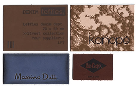 Leather patches & leather labels