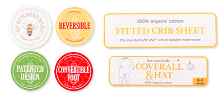 Self adhesive fabric and paper labels