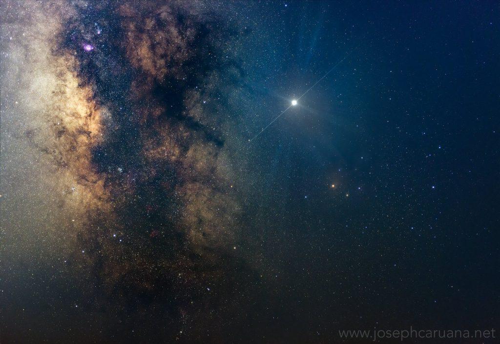 Jupiter and Milky Way from Dwejra