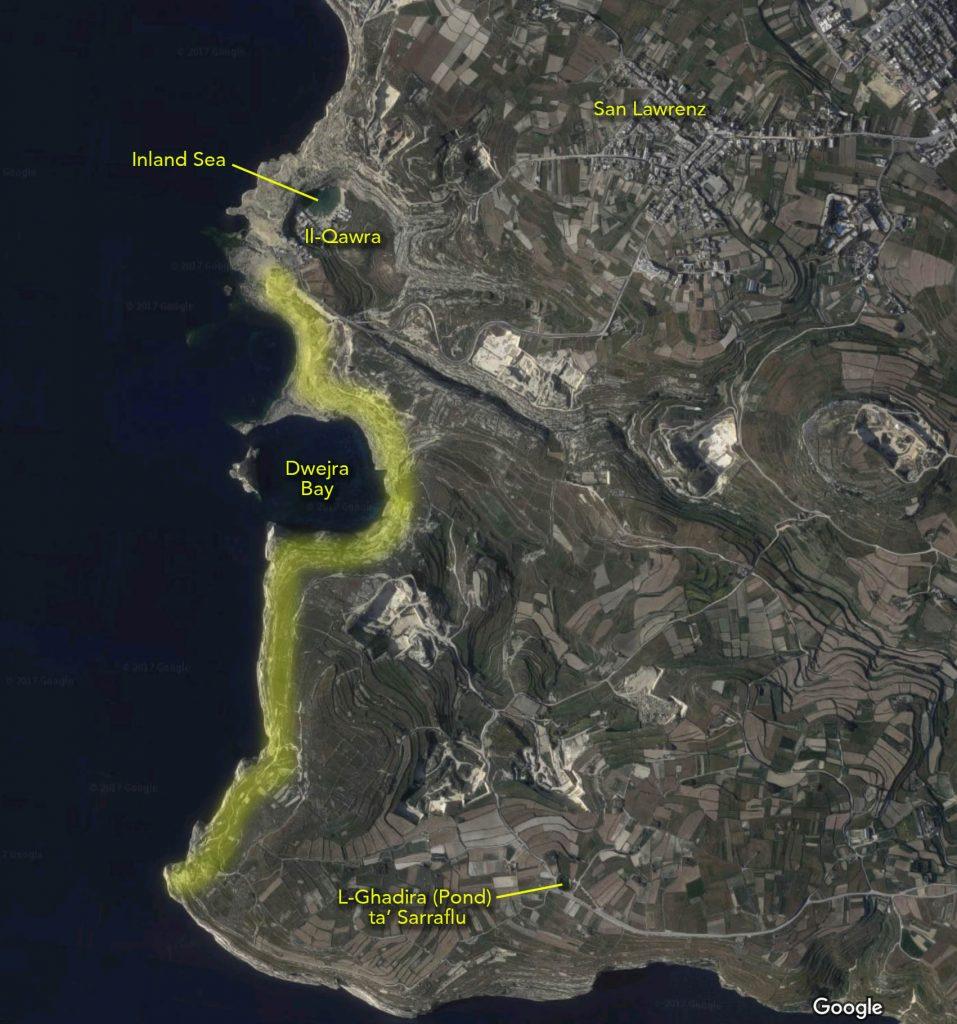 Dwejra hiking map 2