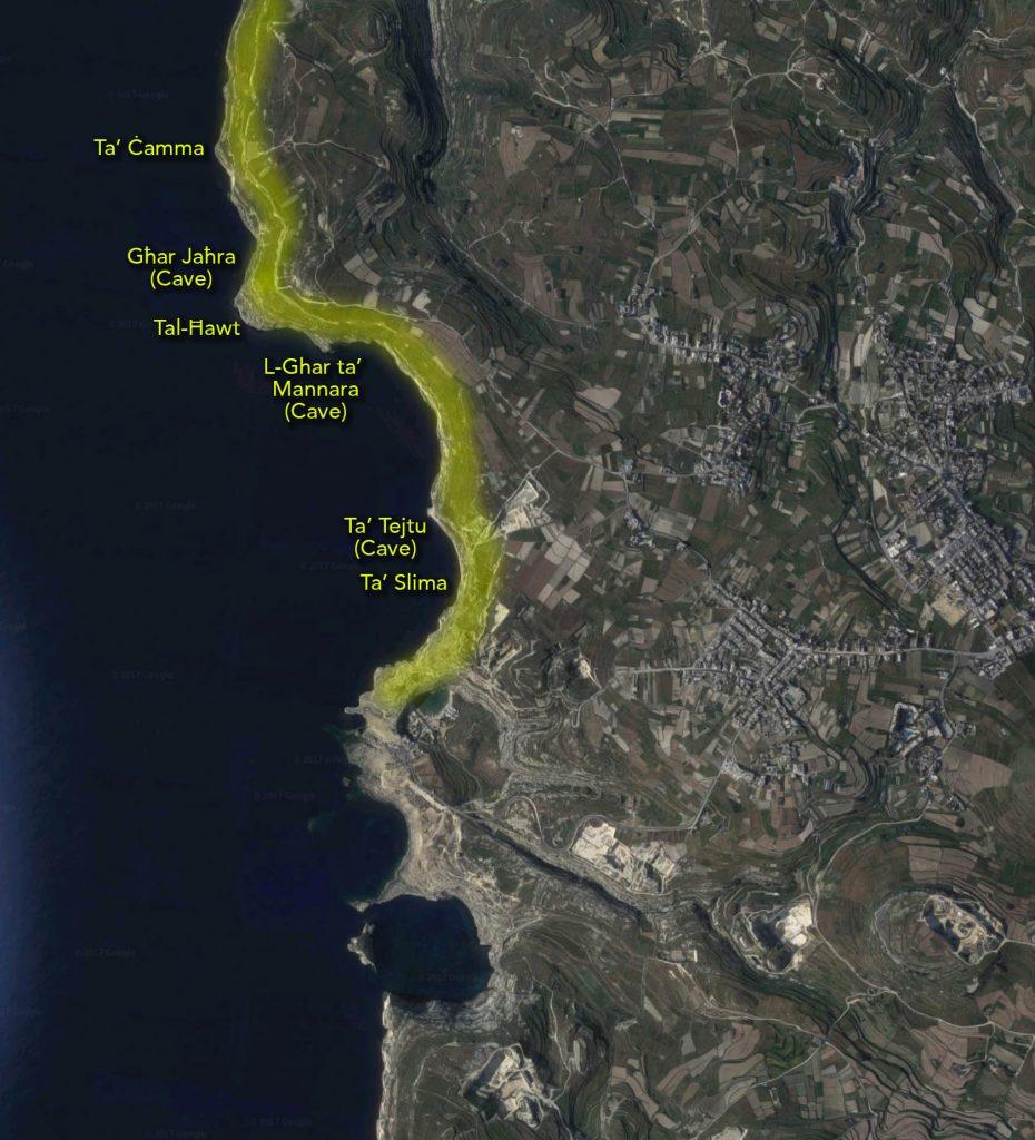Dwejra hiking map 3