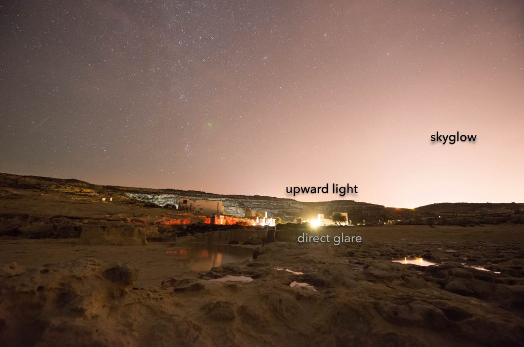 On-site light pollution at Dwejra