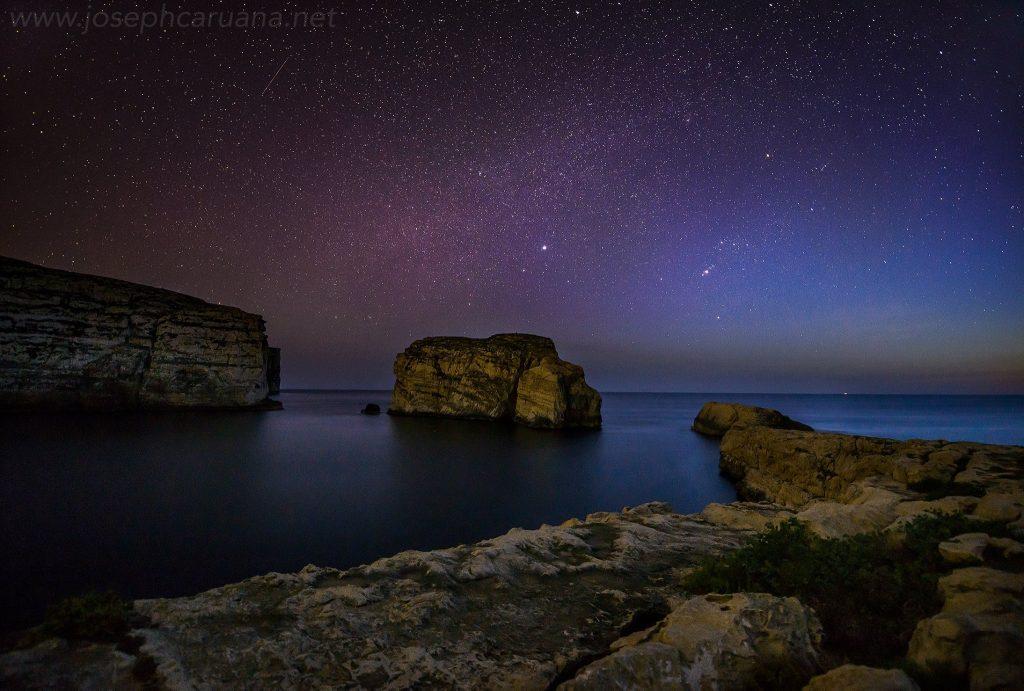 Orion and Sirius from Dwejra