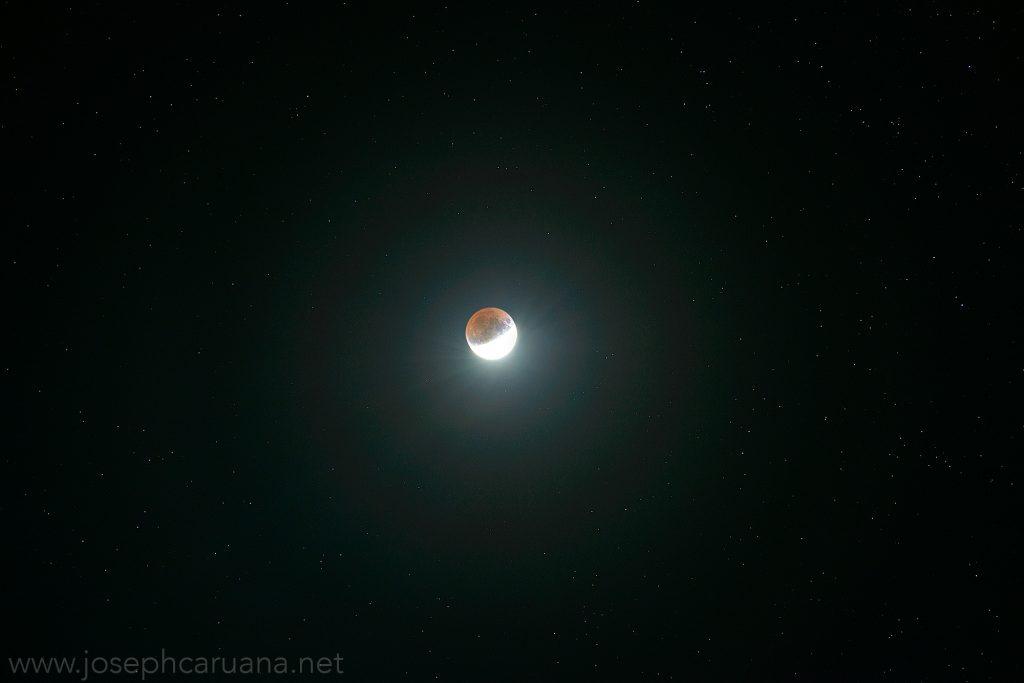 Partial Lunar Eclipse from Dwejra