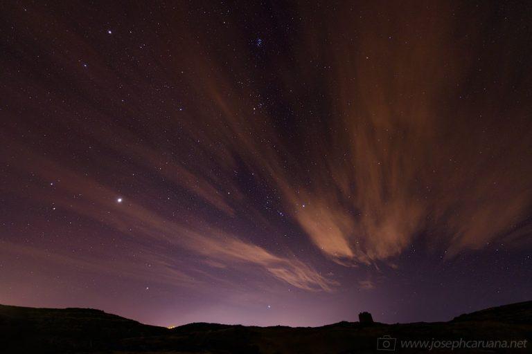 Dwejra's Night Sky - Orion and the Pleiades