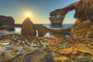 Sunset at the Azure Window