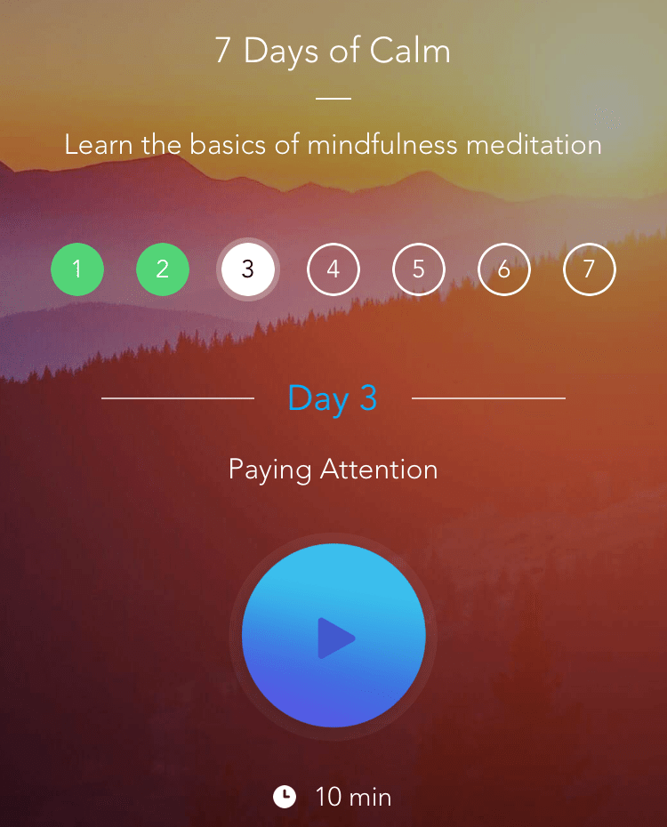 7 days of mindfulness meditation