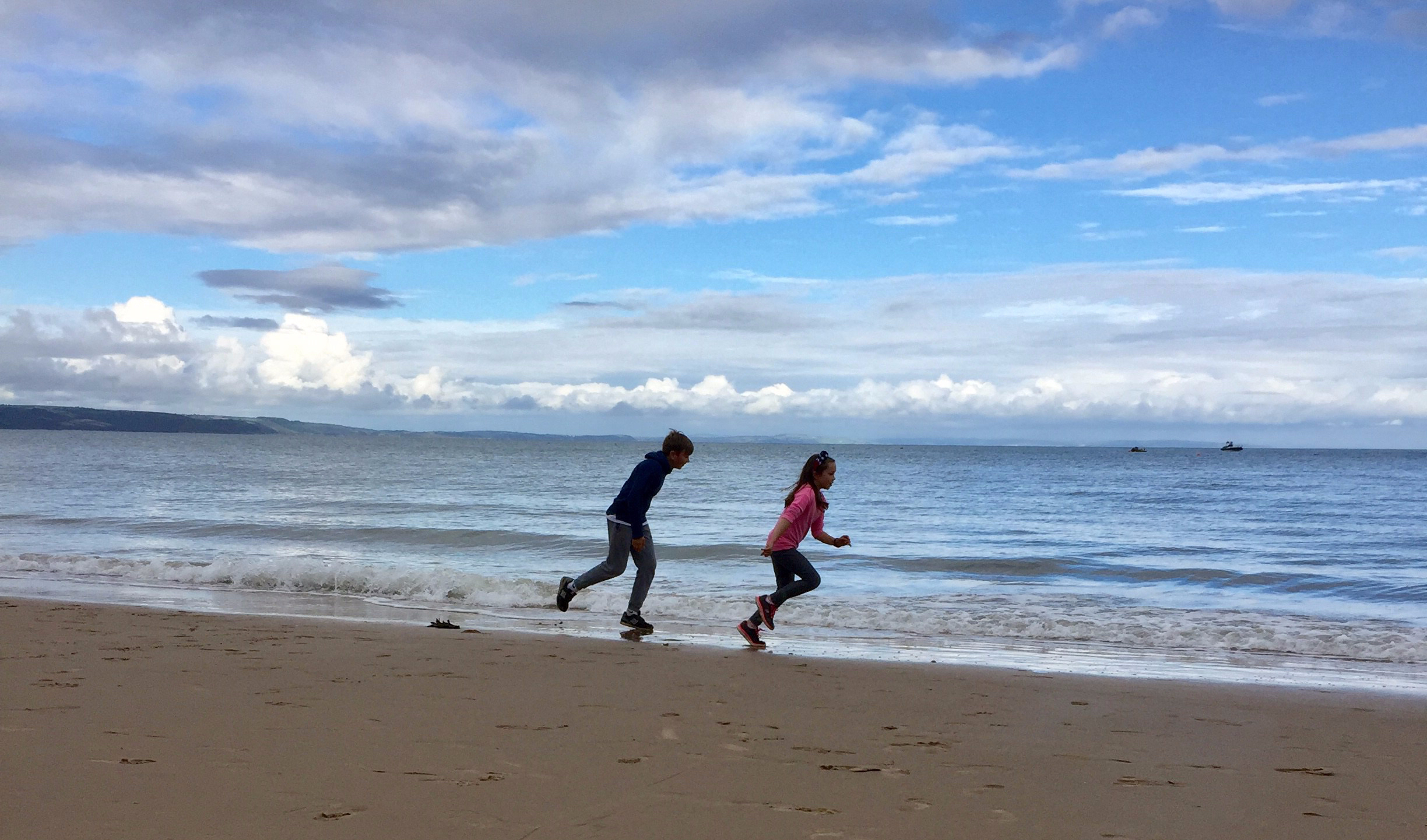 Kids Tenby beach shot
