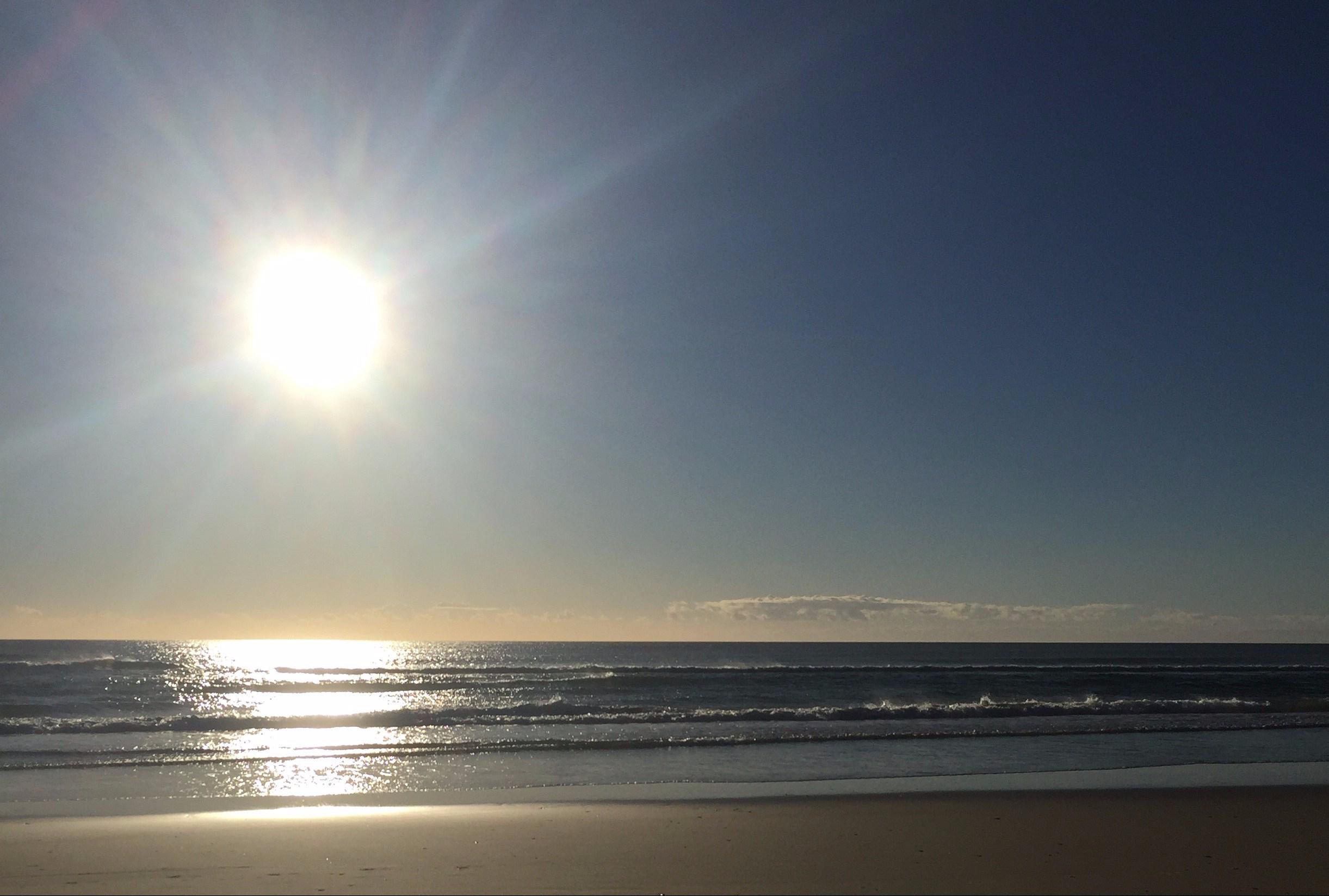 Sunrise Australian casuarina beach
