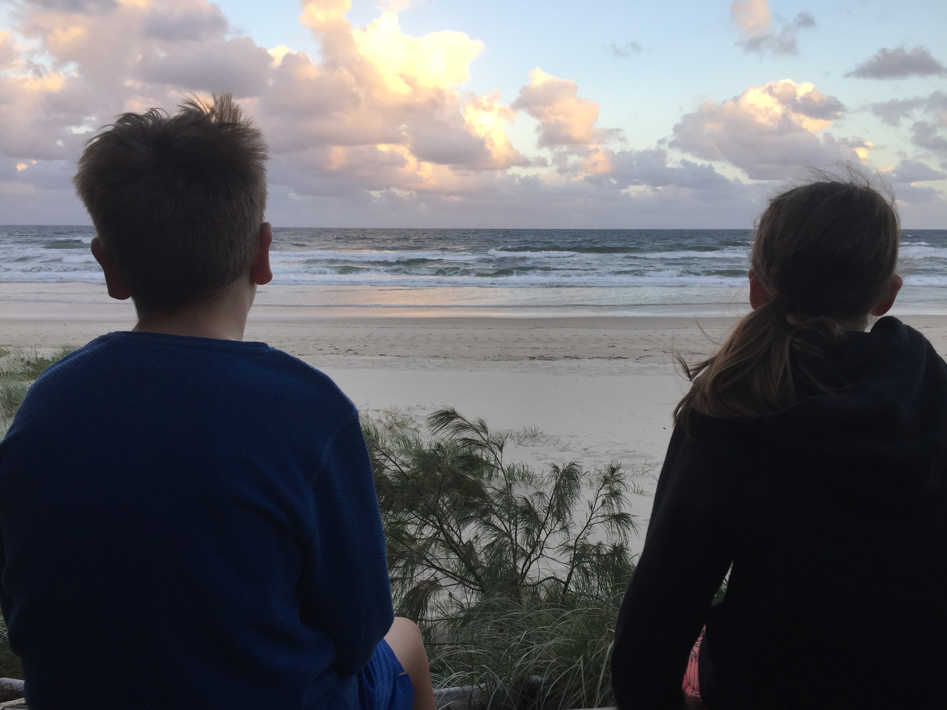 Kids quiet time casuarina beach Australia