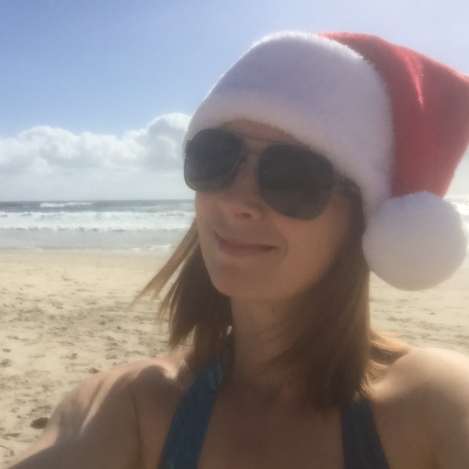 Australian Christmas Day on beach