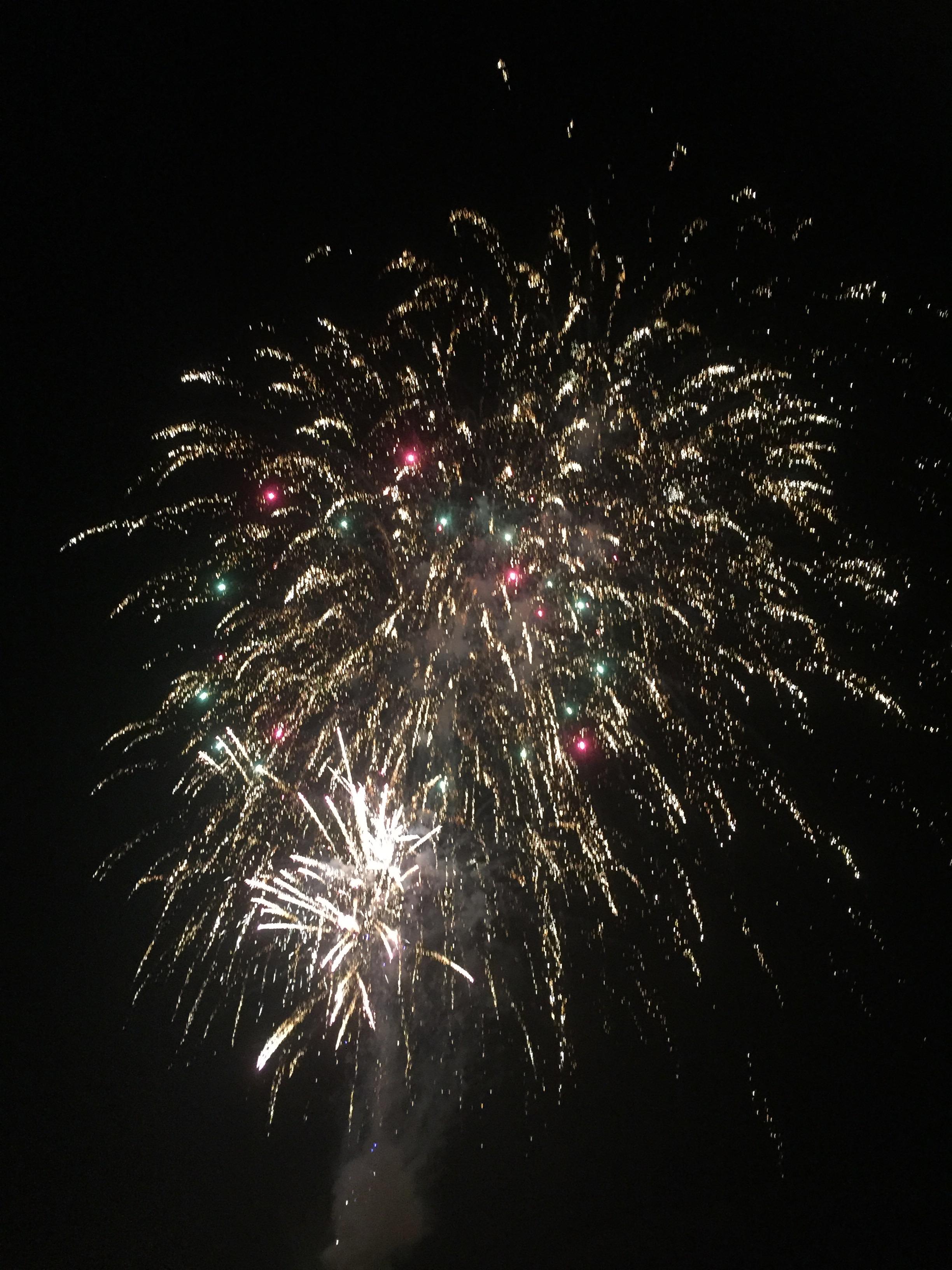 Salt Village fireworks New Years eve