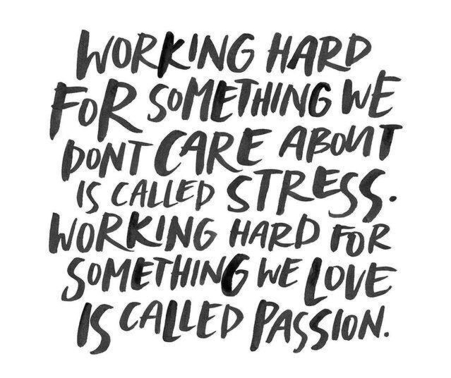 passion not stress